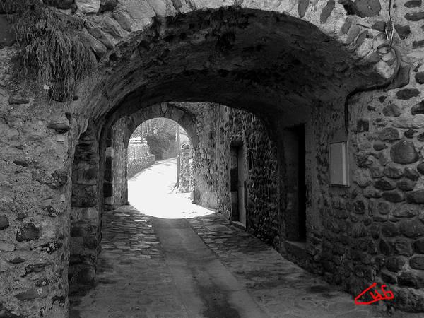 Photograph - Little Street La Roche Alba Ardeche France by Colette V Hera  Guggenheim