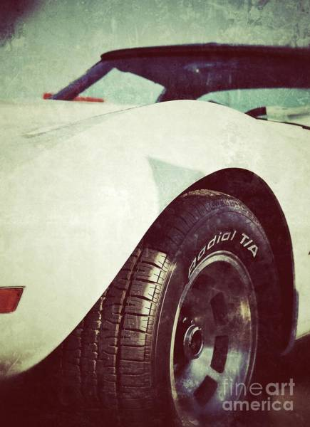 Photograph - Little White Corvette by Traci Cottingham