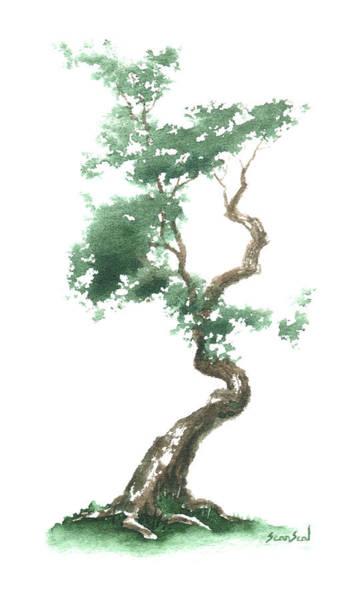 Wall Art - Painting - Little Zen Tree 612 by Sean Seal
