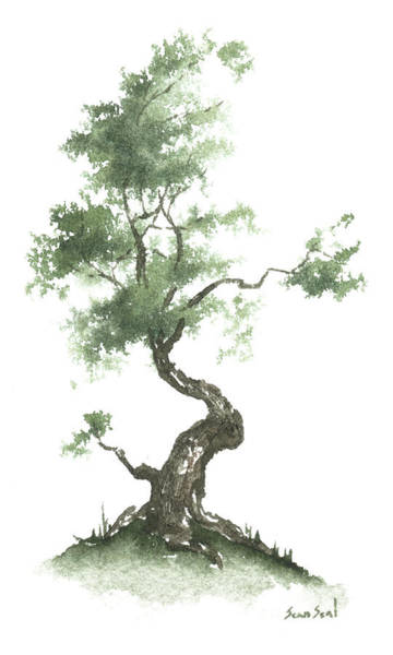 Wall Art - Painting - Little Zen Tree 626 by Sean Seal