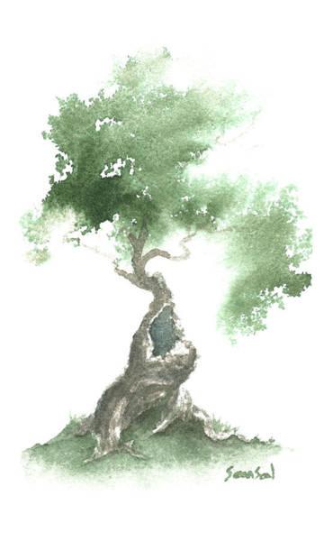Wall Art - Painting - Little Zen Tree 676 by  Sean Seal