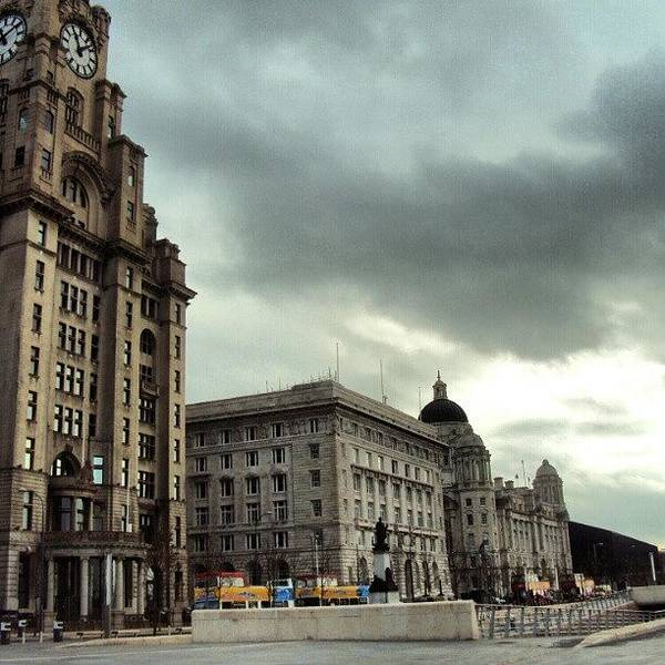 Wall Art - Photograph - #liverpool #sky #clouds #buildings by Abdelrahman Alawwad