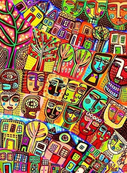 Painting - Living In Harmony by Sandra Silberzweig