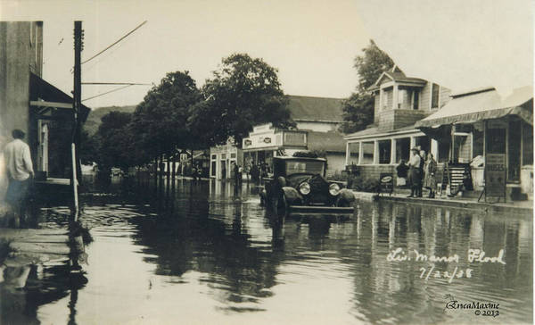 Photograph - Livingston Manor - 1938 Flood by Ericamaxine Price