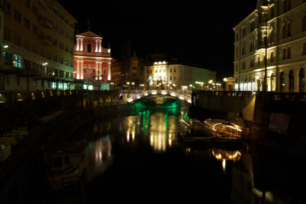 Photograph - Ljubljana By Night by Ivan Slosar