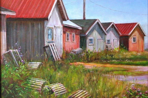 Prince Edward Island Painting - Lobster Shacks by Linda Spencer