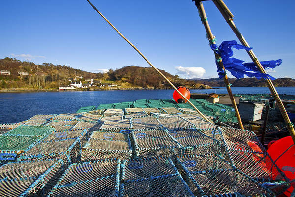 Cage Photograph - Lobsters Cages On The Loch Gairloch by Maremagnum