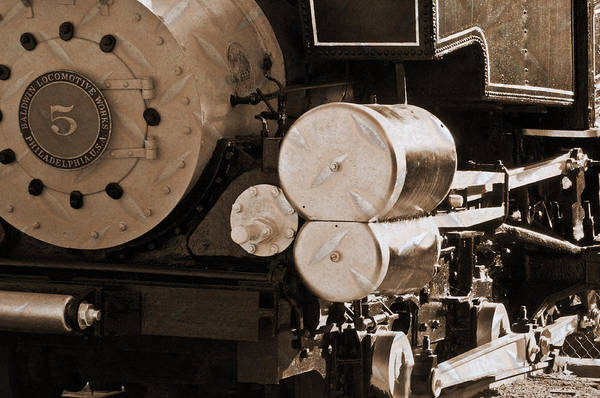 Photograph - Locomotive No5 Stamped by Colleen Coccia