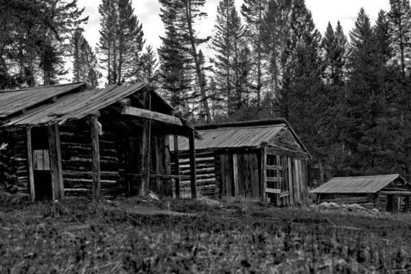 Photograph - Log Cabins-faded Dreams by Joseph Noonan