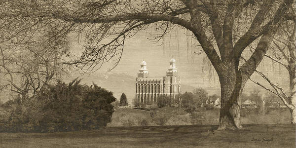 Photograph - Logan Lds Temple by Ramona Murdock