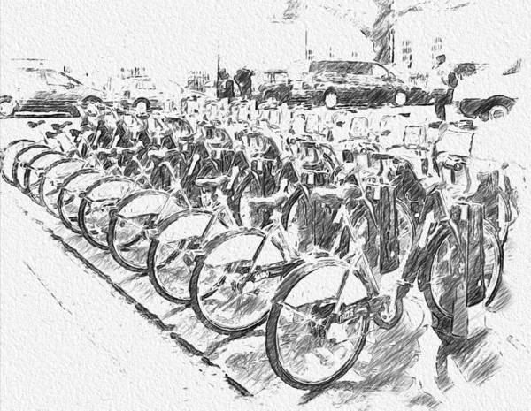 Wall Art - Digital Art - London Bikes by Yury Malkov