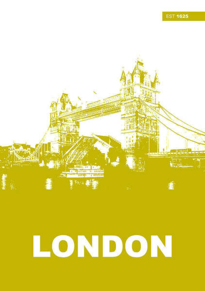 United Kingdom Photograph - London Bridge Poster by Naxart Studio