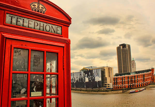 Southbank Photograph - London Calling by Jasna Buncic