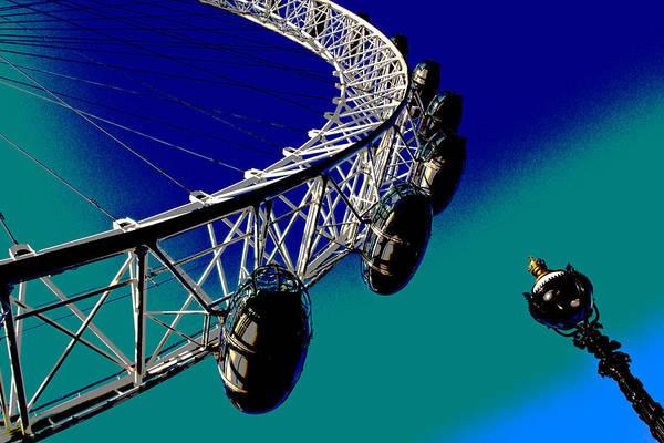 Wall Art - Digital Art - London Eye Abstact View  by David Pyatt