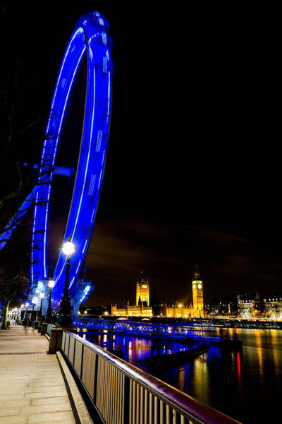 Southbank Photograph - London Eye And London View by David Pyatt
