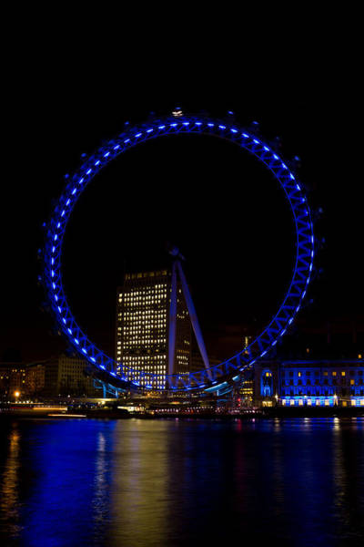 Millenium Photograph - London Eye And River Thames View by David Pyatt