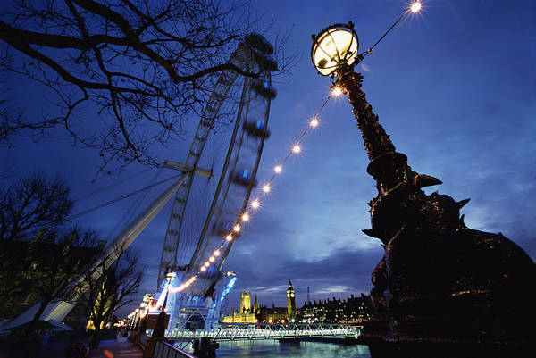 Southbank Photograph - London Eye At Night by Axiom Photographic
