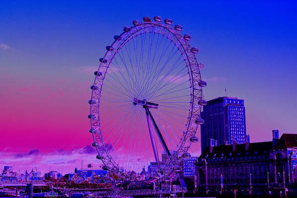 Wall Art - Digital Art - London Eye View by David Pyatt