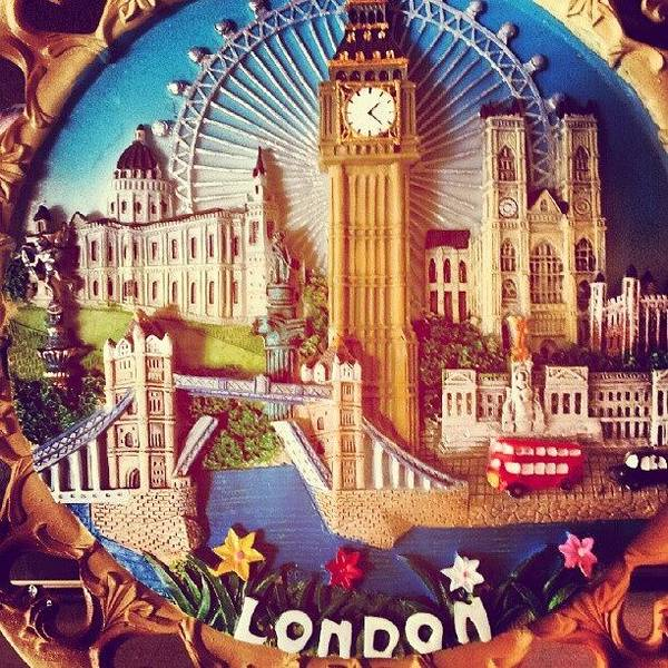 Old Wall Art - Photograph - #london #londonbuses #londoneye by Abdelrahman Alawwad