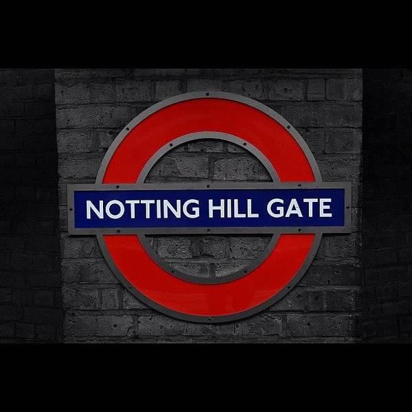 London Wall Art - Photograph - #london #nottinghillgate #underground by Ozan Goren