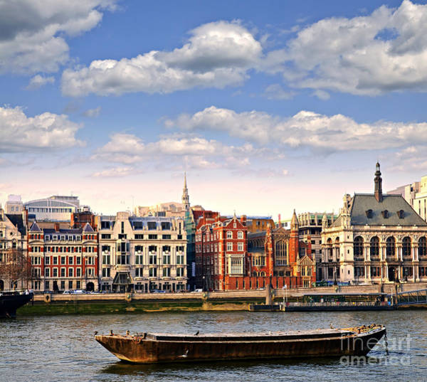 Wall Art - Photograph - London Skyline From Thames River by Elena Elisseeva