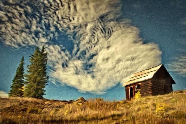 Lone Tree Painting - Lone Cabin by Jeffrey Kolker