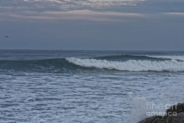 Photograph - Lone Evening Surfer by Deborah Benoit