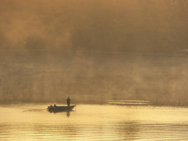 Photograph - Lone Fisherman 2 by Steven Huszar