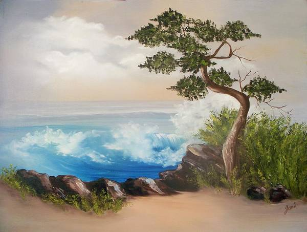 Painting - Lone Tree By The Sea by Joni McPherson