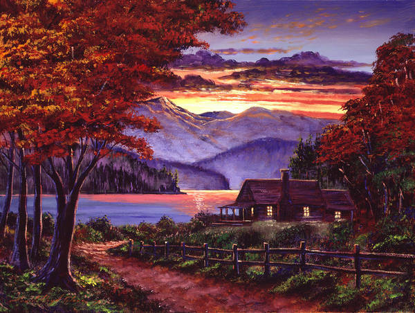 Painting - Lonely Cabin by David Lloyd Glover