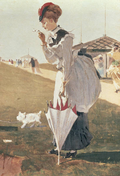 Long Dress Painting - Long Branch by Winslow Homer