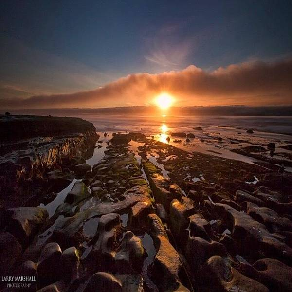 Wall Art - Photograph - Long Exposure Sunset In La Jolla by Larry Marshall