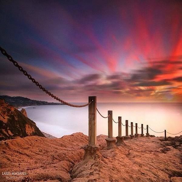 Photograph - Long Exposure Sunset Shot From The by Larry Marshall