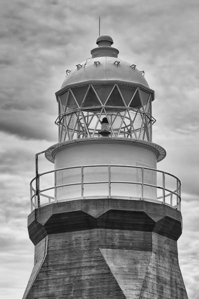 Wall Art - Photograph - Long Point Lighthouse - Black And White by Eunice Gibb