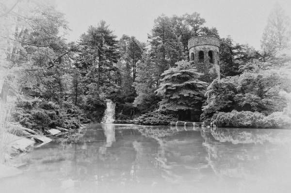 Longwood Gardens Photograph - Longwood Gardens Castle In Black And White by Bill Cannon