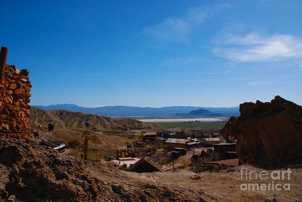 Photograph - Looking Down To The Valley From Calico California by Susanne Van Hulst