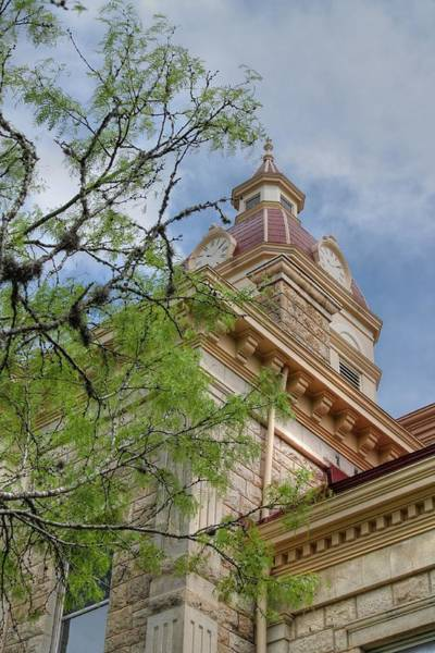 Photograph - Looking Up At Bandera County Courthouse In Portrait by Sarah Broadmeadow-Thomas