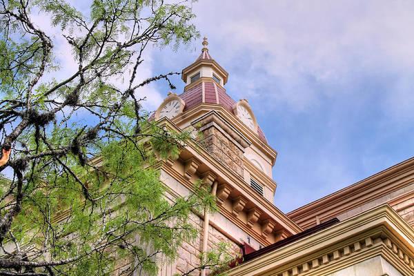 Photograph - Looking Up At Bandera County Courthouse by Sarah Broadmeadow-Thomas