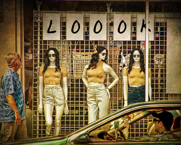 Photograph - Loook A Fine Art Photo Of A Window Display by Randall Nyhof