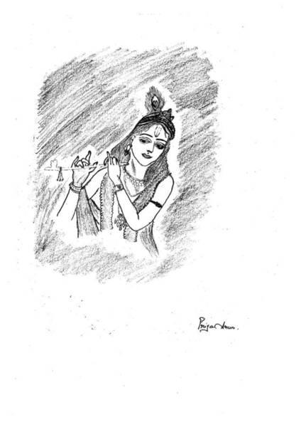 Lord Krishna Drawings Fine Art America
