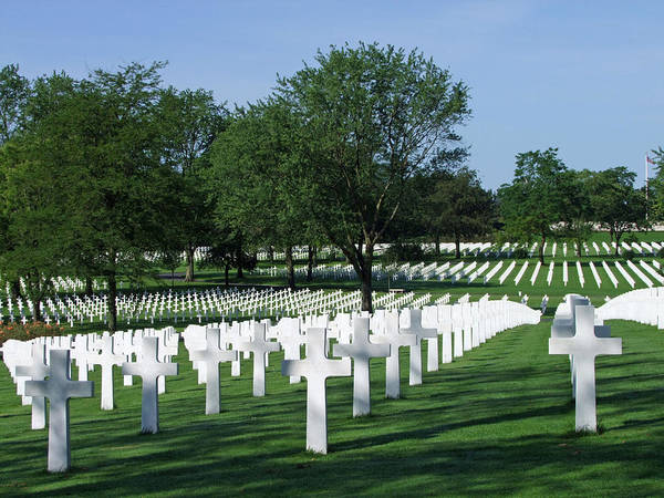 Cementery Photograph - Lorraine Wwii American Cemetery St Avold France by Joseph Hendrix
