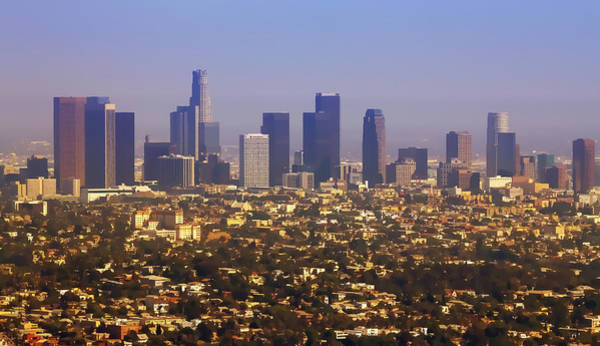 American Steel Photograph - Los Angeles From Above Cartoony by Ricky Barnard