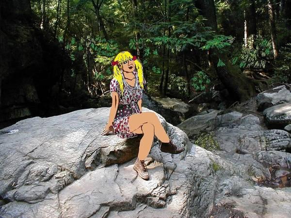 Blondie Digital Art - Lost Girl by Joan Shortridge