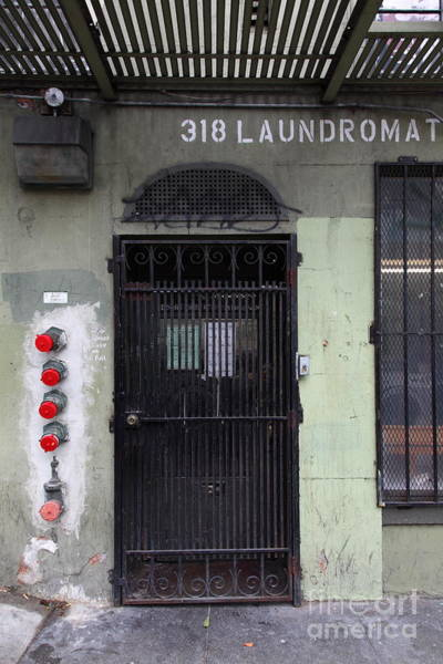 Photograph - Lost In Urban America - Laundromat - Tenderloin District - San Francisco California - 5d19347 by Wingsdomain Art and Photography