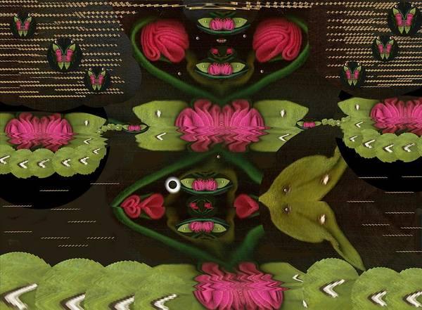 Lotus Fish Comes In Love Art Print