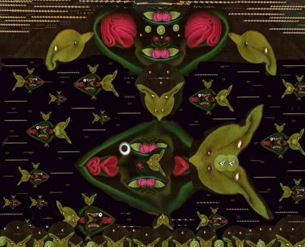Lotus Mixed Media - Lotus Fish by Pepita Selles