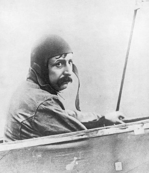 Bleriot Photograph - Louis Bleriot, French Aviator by Science, Industry & Business Librarynew York Public Library
