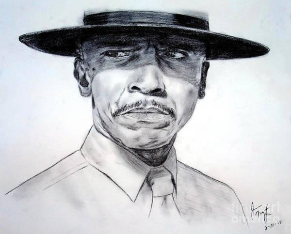 Wall Art - Drawing - Louis Gossett Jr In An Officer And A Gentleman by Jim Fitzpatrick