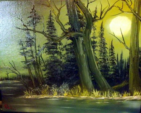 Benny Painting - Louisiana Bayou by Benny Lawrence