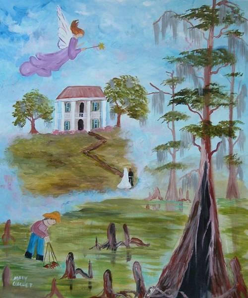 Angel Oak Painting - Louisiana Fantasy by Mary Crochet